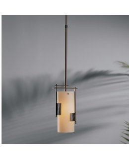 Hubbardton Forge Lighting Model 18540-301-05-H75 Fullered Impressions Pendant Light Fixture Bronze-Stone Finish