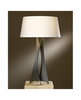 Hubbardton Forge Lighting Model 272920-05-712 Folio Table Lamp Bronze-Doeskin Suede Finish