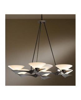 Hubbardton Forge Lighting Model 104325-07-G440 Moreau Dark Smoke-Opal Finish