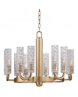Hudson Valley Lighting Model 8012-AGB  Dartmouth Chandelier Aged Brass Finish