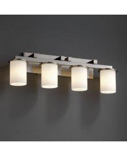 Justice Design Lighting Model FSN-8774-10-OPAL-NCKL Dakota Fusion Opal Bath Bar Brushed Nickel-Opal Finish
