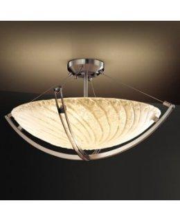 Justice Design GLA-9712-35-WH-NI-L-5000  Waterwash LED Semi Flush Mount
