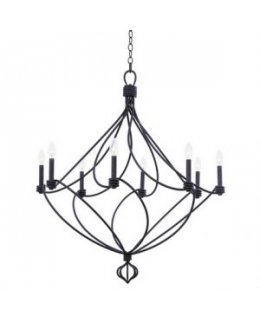 Kalco Lighting Model 500950CL Sundance 36 Inch Chandelier Charcoal Finish