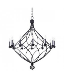 Kalco Lighting Model  500952CL Sundance 39 Inch Chandelier Charcoal Finish