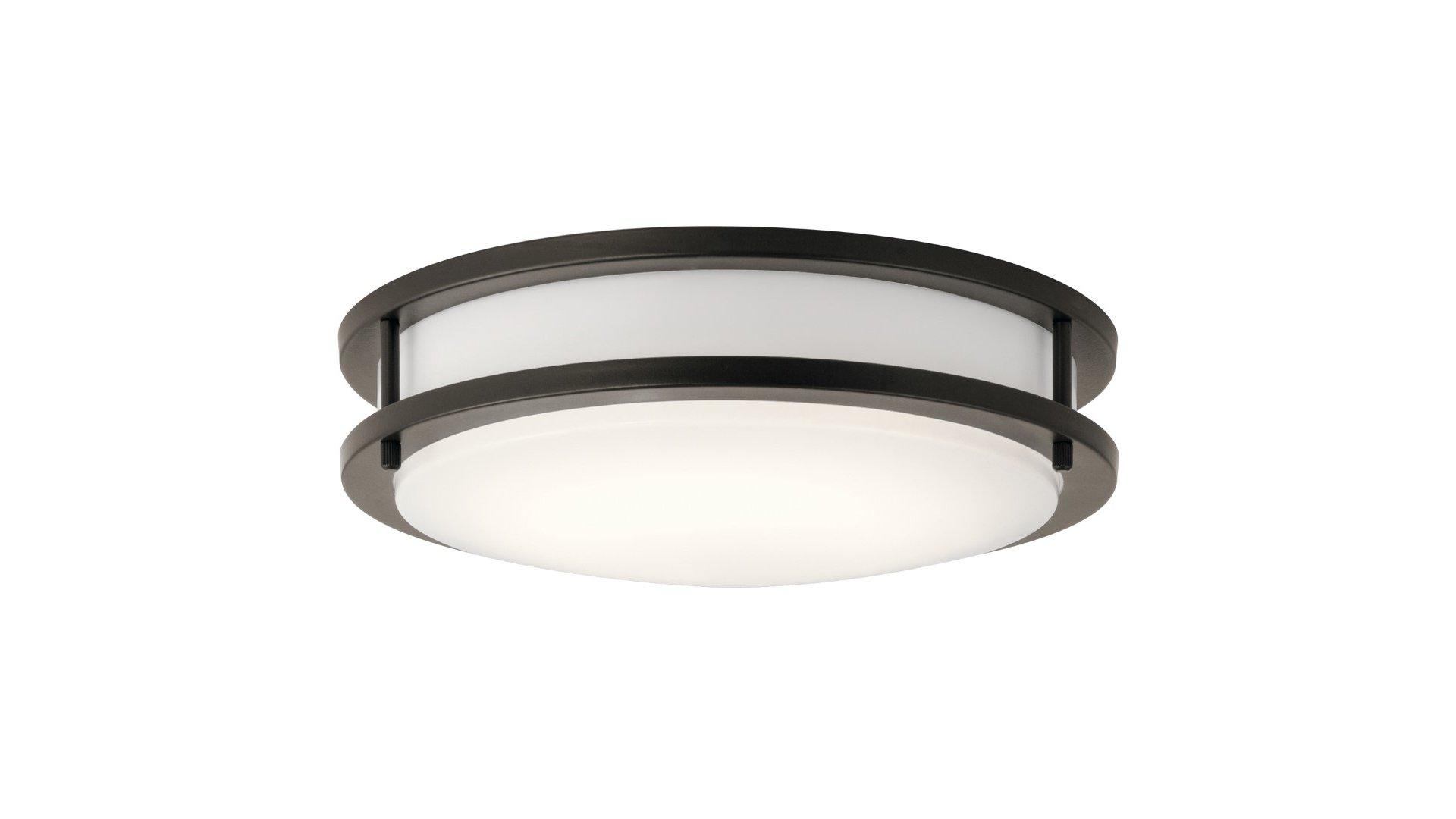 Kichler Lighting Model 10784ozled 1078 Ceiling Light Fixture Olde Bronze White Finish
