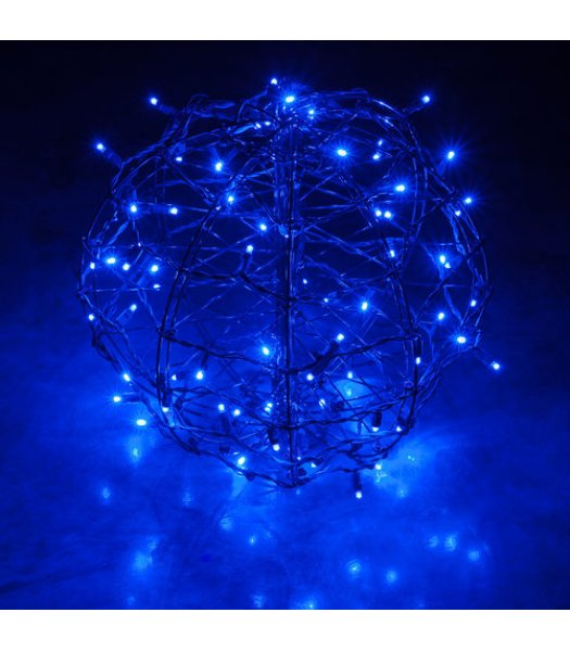 CLP13773 LED Christmas Light Ball Blue Fold Flat Christmas Light Display