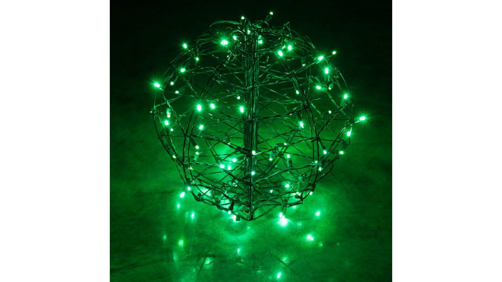 Christmas Light Balls.Clp13775 Led Christmas Light Ball Green Fold Flat Christmas Light Display