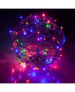 CLP13776 LED Christmas Light Ball Multi-Color Fold Flat Christmas Light Display