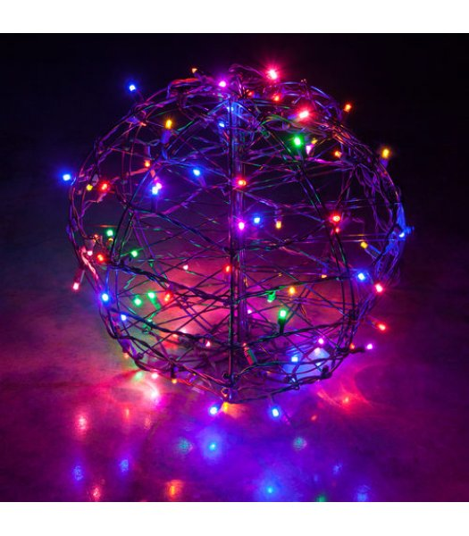 CLP13776 LED Christmas Light Ball Multi-Color Fold Flat Christmas Light Display