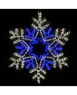 CLP13861 28 inch LED Cool White and Blue Snowflake