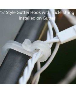 CLP5252  Christmas light Gutter Hooks Package of 100