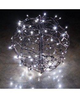 CLP13772 LED Christmas Light Ball Cool White Flat Christmas Light Display