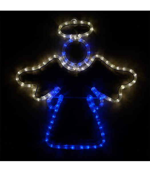 CLP73432  20 Inch LED Blue and Cool White Angel Christmas Light Display