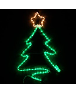 CLP13878  16 Inch LED Christmas Tree with Trumpet Christmas Light Display