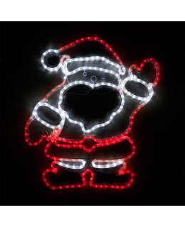 CLP13872  28 Inch LED Waving Santa Christmas Light Display