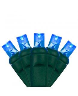CLP7127   LED Christmas Lights GRN WIRE Blue bulbs