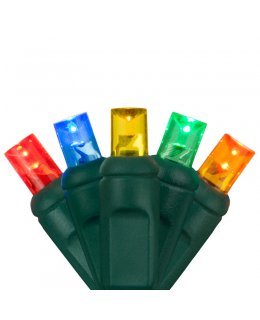 CLP7161 Commercial LED Stringer Multi-Color Bulbs 4 inch spacing
