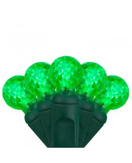 CLP7156 LED Christmas Lights Green Wire G12 Razzberry Green Bulbs