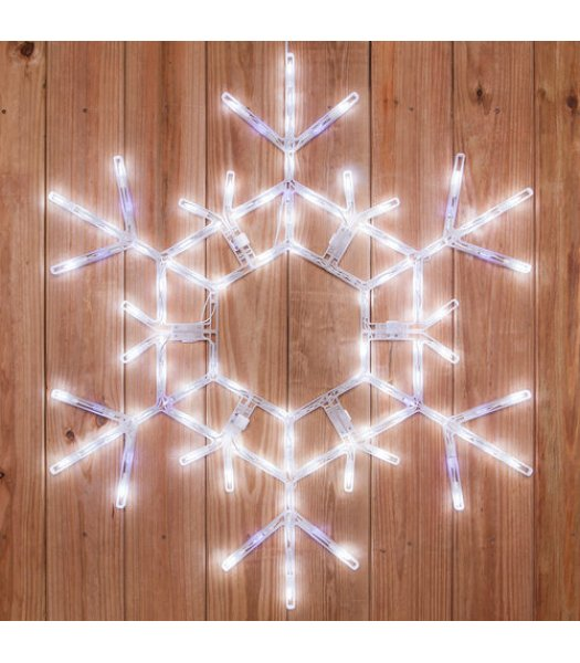CLP6486  36 Inch LED Folding Snowflake Decoration 105 Cool White Lights
