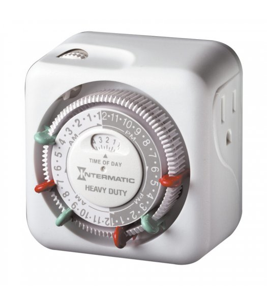 CLP7778 Heavy Duty Grounded 15A Indoor Timer with 3 on-off settings