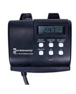 CLP12371 15A Dual Receptacle Outdoor Timer with 14 on-off settings with digital timer