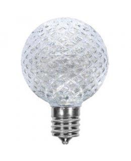 CLP13617  E17-C9 Base G50 .85W Cool White LED Patio Light Bulbs  PACK OF 25