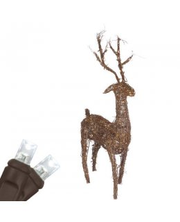 CLU68264  Commercial Grade 48 Inch Grapevine Standing Reindeer, 200 Cool White LED Lights