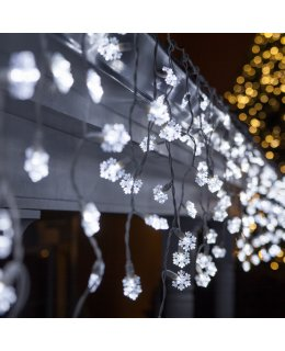 CLP8533 7.5 ft LED Cool White Icicle Lights on 7.5 Ft White Wire