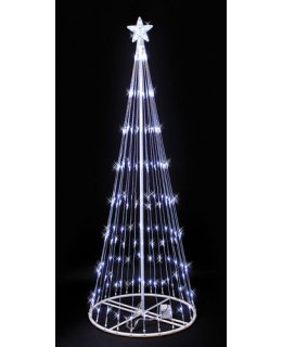 CLP690 White LED Lightshow Tree Christmas Light Display