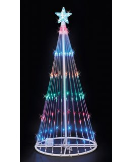 CLP6887 Multi-Color LED Lightshow Tree Christmas Light Display