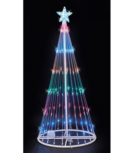 CLP6887 Multi-Color LED Lightshow Tree Christmas Light Display