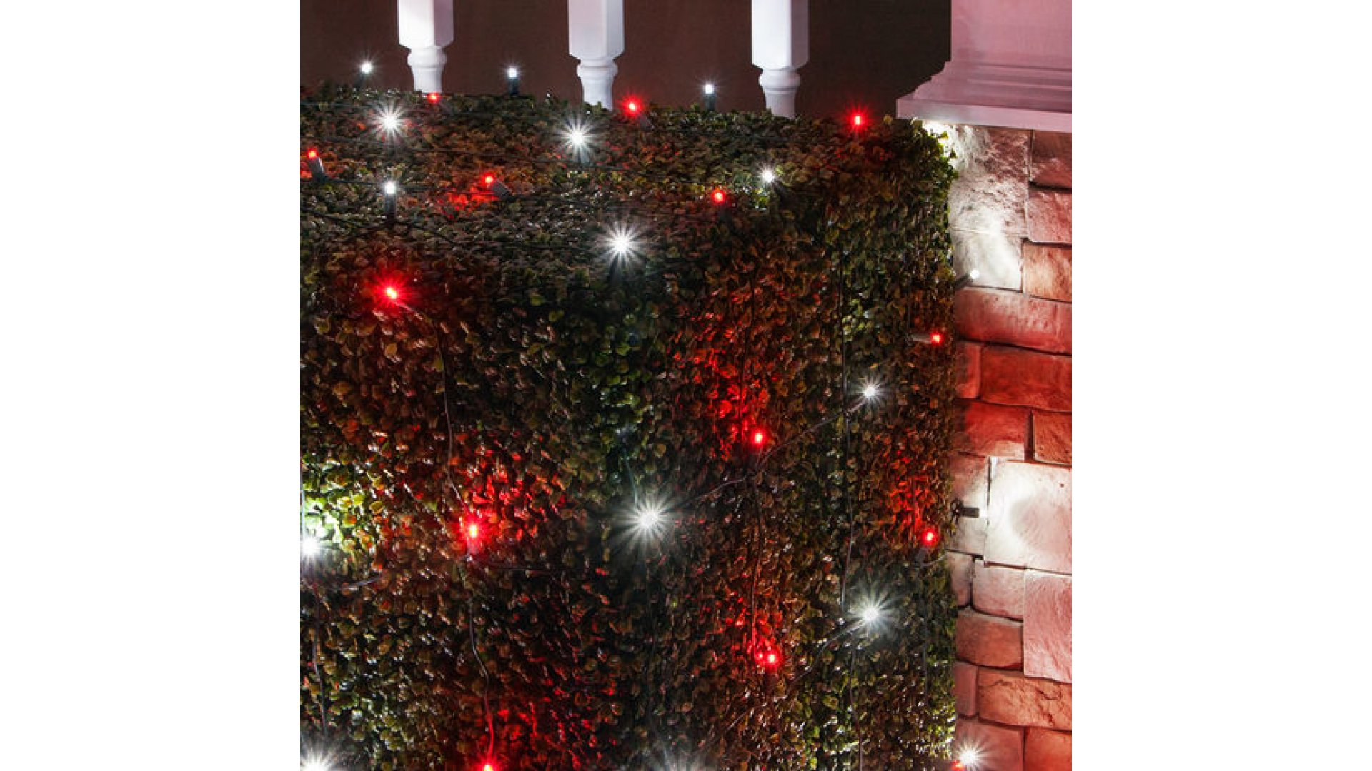 CLU72475 4 ft x 6 ft Net Light Set with 100 Cool White-Red LED ...