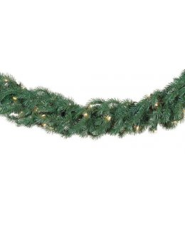 CLP12273 Commercial Grade 9 Ft Long - 14 Inch Wide Warm White LED Prelit Balsam Fir