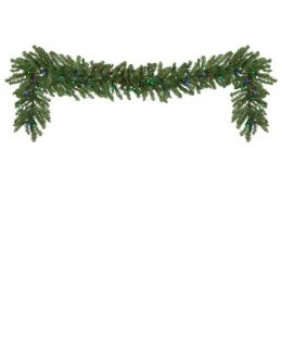 CLP13041 MULTI-COLOR  Commercial Grade 9 Ft Long - 14 Inch Wide LED Prelit Douglas Fir