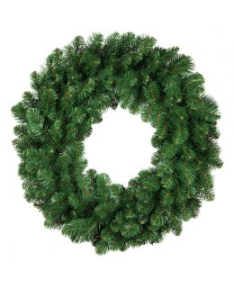 CLP13967  24 Inch LED Commercial Grade Oregon Fir Prelit Wreath 50 Warm White LED 5mm Lights