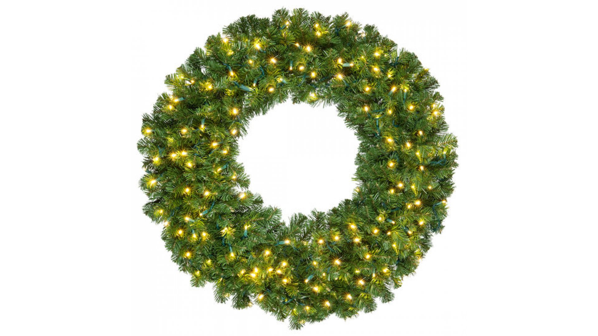 Prelit Christmas Wreath.Clp14190 36 Inch Led Commercial Grade Olympia Pine Prelit Christmas Wreath 150 Warm White Led Lights