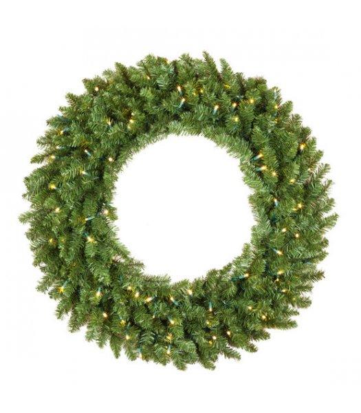 CLP13043 36 Inch LED Commercial Grade Douglas Fir Prelit Wreath 100 Warm White LED 5mm Lights