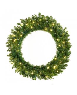 CLP12277 30 Inch LED Commercial Grade Norway Spruce Prelit Wreath 100 Multi-color LED 5mm Lights