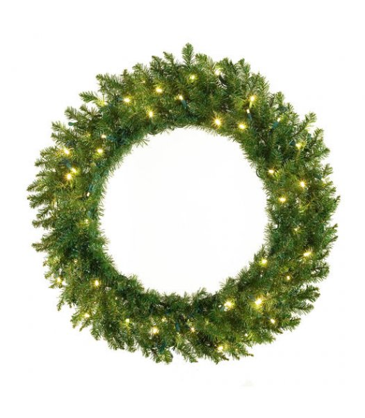 CLP12277 30 Inch LED Commercial Grade Norway Spruce Prelit Wreath 100 Multi-color LED 5mm Lights
