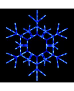 CLP13784  36 Inch LED Folding Blue Snowflake