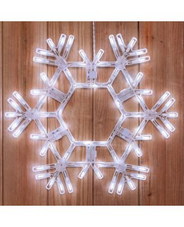 CLP6462  20 Inch LED Folding Snowflake Decoration 70 Cool White Lights