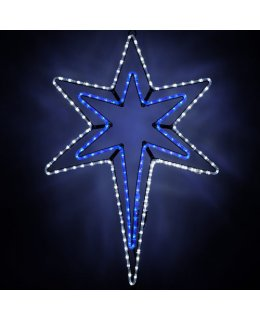 CLP6541 LED Bethlehem Star With A Blue Center