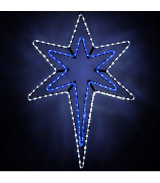 CLP6541 LED Bethlehem Star With A Blue Center