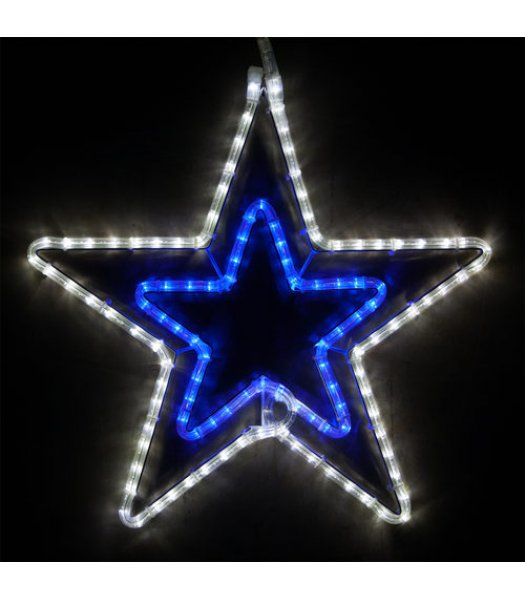 CLP13851 22 Inch Blue and Cool White LED Star Christmas Display