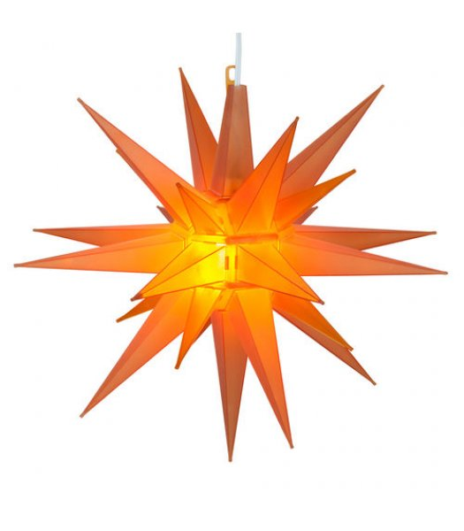 CLP13627 14 Inch Amber LED Moravian Star with 12 plastic spires