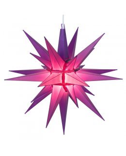 CLP13631 14 Inch Purple LED Moravian Star with 12 plastic spires