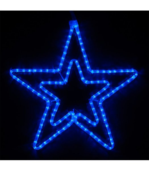 CLP13853 22 Inch Blue LED Star Christmas Display