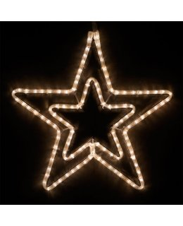 CLP13854 22 Inch Warm White LED Star Christmas Display