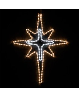 CLP13847 Warm White and Cool White Bethlehem LED Star Christmas Display