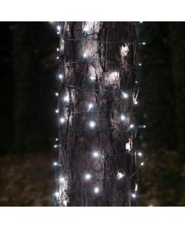 CLU71305 2 ft x 6 ft TREE TRUNK WRAP Light Set with 100 Cool White LED lights & GREEN WIRE